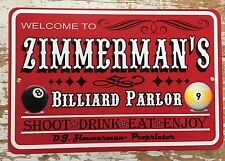 Personalized Signs, Man Cave Game Room, Bar Shop , Trophy Room, Billiards Metal