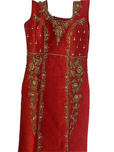Red Indian/pakistani/ Wedding Dress Suit