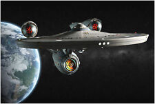 STAR Trek Enterprise Nave Spaziale Film A4 260gsm Poster Stampa