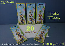 FESTA REGALINI IDEA REGALO TRILLI FATINE DISNEY SPILLA PINS 20 Pz in 5 Blister