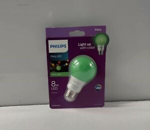 Philips Green Light Bulb LED 8 W Porch  Party Mardi Gras Cerebral Palsy Veterans