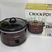 Limited Exclusive Plaid Crock-Pot 4.5-Quart Classic Round Slow Cooker Red Black
