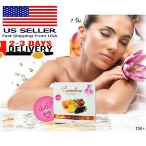 100g Original Bumebime Soap Skin Body Whitening Double White Thai Mask Soap New