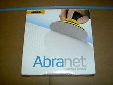 "Mirka Abranet 150mm (6"") Sanding Discs - Box of 50 p240 grit top quality"