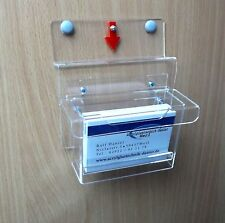 Visitenkartenbox wetterfest,für Aussen,mit Pfeil.Visitenkartenhalter