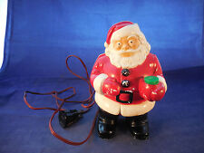 "PLASTIC SANTA LIGHT 7 1/2"" 1950S WITH RED CORD"