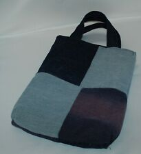 Handmade Upcycled Denim Patchwork Tote Hand Bag Camo Print Inner Recycled Unique