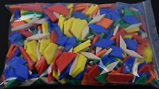 Lot of 500 Colored Shape PATTERN BLOCKS Tangram MATH MANIPULATIVE Geometric