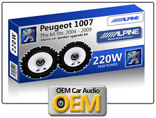PEUGEOT 1007 casse portiera anteriore KIT ALPINE ALTOPARLANTI AUTO 220W MAX