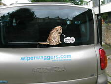 SHAR PEI DOG STICKER WITH WIPER WAGGING TAIL FOR CAR REAR WINDSCREEN NOVELTY