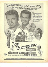 Audie Murphy, Joe Butterfly, Full Page Vintage Promotional Ad