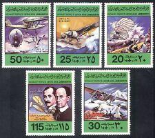 Libya 1978 Planes/Wright/Bleriot/Aircraft/Aviation/Flight/Transport 5v set s2737