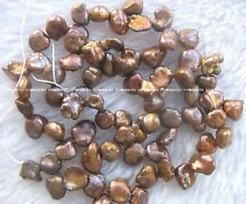 "freshwater pearl brown reborn keshi 7-10mm 14.5"" loose beads wholesale bead hot"