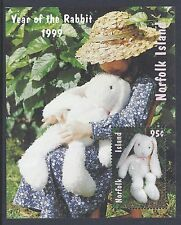 1999 NORFOLK ISLAND YEAR OF THE RABBIT MINI SHEET FINE MINT MNH/MUH