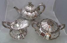 Georgian Crested Old Sheffield Plated Tea Set