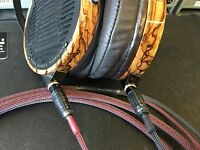 Ultimate Audeze LCD-2, LCD-3, LCD-4, LCD-XC Headphone 6ft SILVER/COPPER Cable