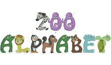 ZOO ALPHABET - 26 MACHINE EMBROIDERY DESIGNS - 3 SIZES - IMPCD109