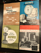 Howe Scale 4 Catalogs Originals Rutland Vermont 1950's