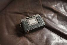 Handmade Genuine Real Leather Half Camera Case Bag Cover for MINOLTA TC-1 Black