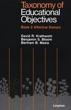 Taxonomy of Educational Objectives Book 2/Affective Domain