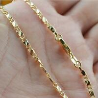 Men Women Exquisite 18K Yellow Gold Filled Chain Necklace 16-30 Inches Jewelry