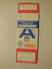 VOIDED (NEVER PLAYED) 1979 AFC CHAMPIONSHIP GAME TICKET STUB 1/7/1979