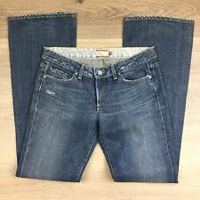 Paige Laurel Canyon Boot Cut Destroyed Women's Jeans Size 30 NWOT Fit W32 (AA8)