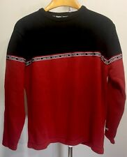 Tommy Hilfiger Tommy Jeans Vintage Mens Pullover Sweater L Red EUC