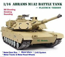 Heng Long Abrams  M1A2 Radio Remote Controlled RC  Tank 1/16 large -- Platinum