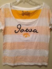NEW Iowa Hawkeyes Striped Women's Top Large
