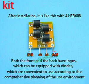 12A 1000V High-speed Rectifier Bridge Upgrade GBJ Rectifier 4 HER608 Diodes Kits