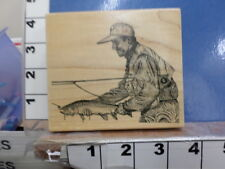 Fisherman Rare Trout   RUBBER STAMP 5M