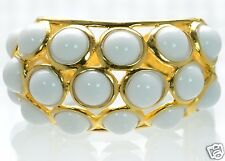 Kenneth J Lane KJL White Cabochon Bubble Cuff Bracelet