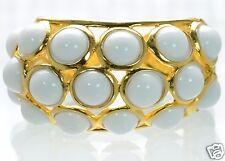 Kenneth J Lane White Cabochon Bubble Cuff Bracelet