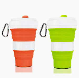 Silicone Coffee Mug Hot/Cold Collapsible Folding Travel Portable Outdoor 550ml