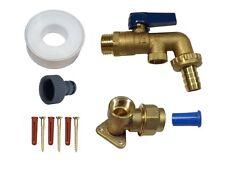 LEVA in ottone kit rubinetto esterno per 20 mm MDPE Tubo con DCV e raccordo del tubo da giardino