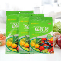 Kitchen Food Storage Bags Freezer Pouches Plastic Fruits Vegetables Fresh Pack