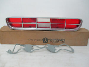 Mopar NOS 1973 Dodge Coronet, 4 DR RH or LH Rear Tail Lamp Lens & Gasket 3620848