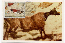 France Maximum First Day Card 1204 Lascaux Prehistoric Animal Paintings 1968 Art