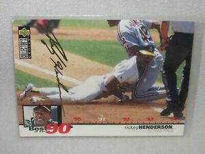 Rickey Henderson * 1995 Upper Deck Collector's Choice * Gold Signature * #53