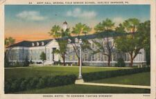 Postcard Hoff Hall Medical Field Service School Carlisle Barracks PA