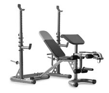 Weider XRS 20 Olympic Workout Bench w/Independent Squat Rack & Preacher