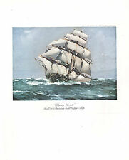 VINTAGE SAILING PRINT ~ FLYING CLOUD (1854) AMERICAN BUILT CLIPPER SHIP