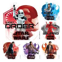 Star Wars Stickers x 6 - Birthday Party Supplies Favours Loot Last Jedi VIII