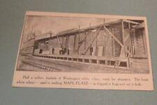 1910 Era Washington White Wheat for Ralston Mapl-Flake Cereal RPPC Postcard