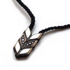"New DAVID YURMAN Men's Chevron Woven 22-28"" Necklace Silver Black Diamond Onyx"