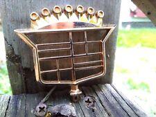 "1974-1976 Cadillac NOS GOLD ""Skeleton"" Hood Ornament Crest Emblem Assembly RARE"