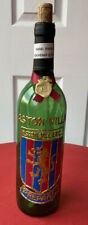 Aston Villa Hand Painted Wine Bottle