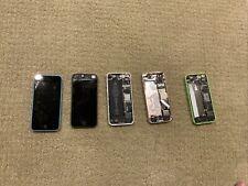 Lot Of 5 As Is Random Broken iPhones Not Tested