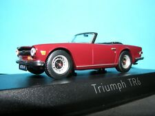 Triumph TR6 in Damask Red 1970 British Specification  RHD Norev 1:43rd New item